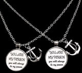 Anchor You Are My Person You're My Best Friend Sister Friends Gift Necklace Set
