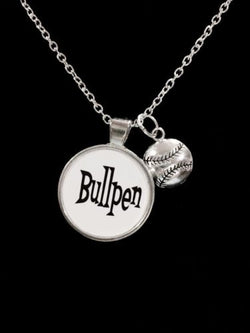 Bullpen Softball Baseball Sports Theme Necklace