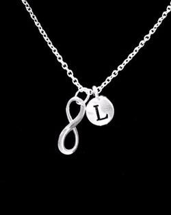 Choose Initial, Infinity Best Friend Sister Mom Daughter Gift Necklace