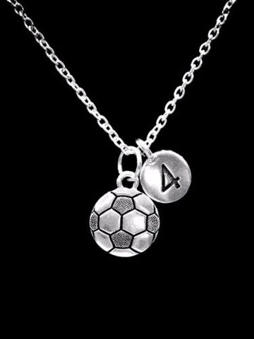 Choose Number, Soccer Sports Gift Charm Necklace