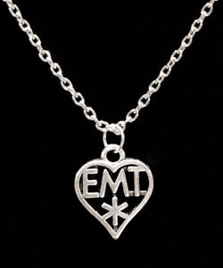EMT Paramedic Heart Medical Occupational Charm Necklace