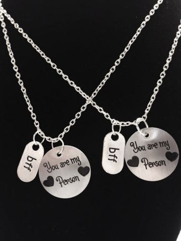2 Necklaces You Are My Person Best Friends Couple's BFF Sisters Set