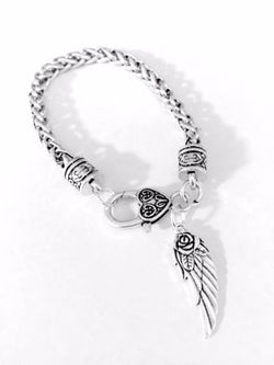 Angel Wing Valentine Mother's Day Gift In Memory Remembrance Charm Bracelet