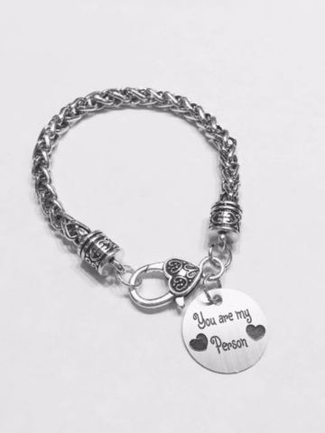 You Are My Person You're My Valentine Gift Wife Friend Sister Charm Bracelet