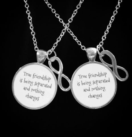 True Friendship Is Being Separated Infinity, Gift Best Friends, Necklace Set