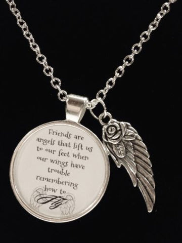 Best Friends Quote When Your Wings Forget How To Fly Guardian Angel Necklace
