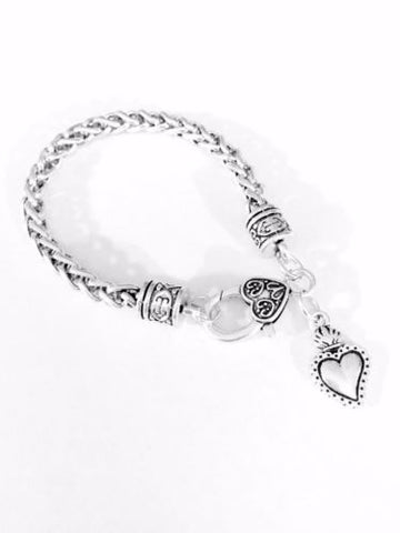 Sacred Heart Mother's Day Gift Mom Wife Love Charm Bracelet