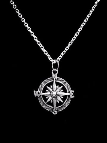 Compass Direction Sister Best Friends Charm Necklace