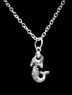 Mermaid Sea Ocean Beach Nautical Animal Nature Gift Charm Necklace