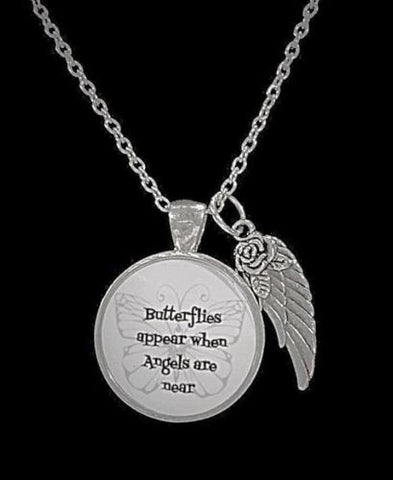 Butterflies Appear When Angels Are Near Guardian Angel Wing Quote