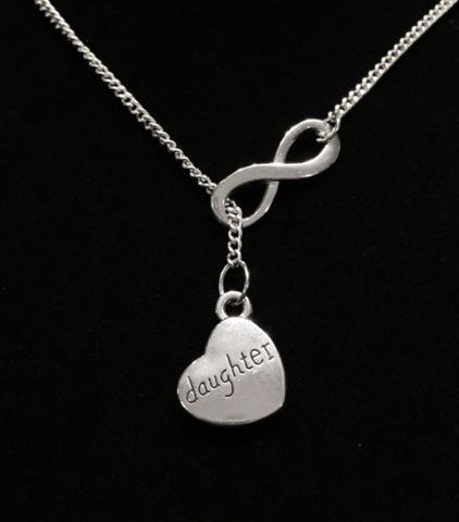 Daughter Heart Infinity Gift Memory Heaven Y Lariat Necklace