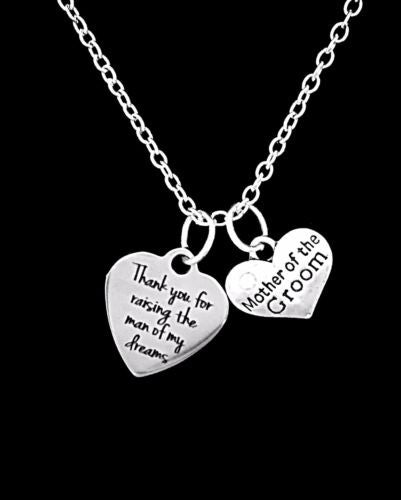 Wedding Gift Mother Of The Groom Thank You For Raising The Man Necklace