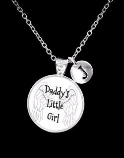 Choose Initial, Daddy's Little Girl Daughter Mother's Day Gift Necklace