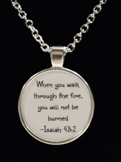 Isaiah 43:2 When You Walk Through The Fire Firefighter Fireman Prayer Necklace