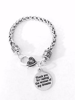 Mother Of The Bride Thank You For Raising The Woman Wedding Gift Charm Bracelet