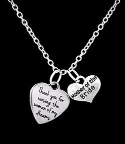Mother Of The Bride Thank You For Raising The Woman My Dreams Wedding Necklace