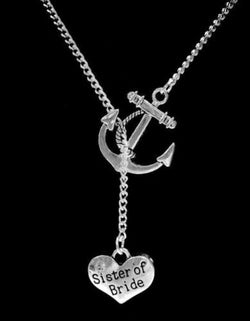 Anchor Sister Of The Bride Wedding Bridal Gift Lariat Necklace