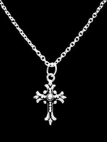 Fleur Cross Gift Christian Religious God Faith Charm Necklace