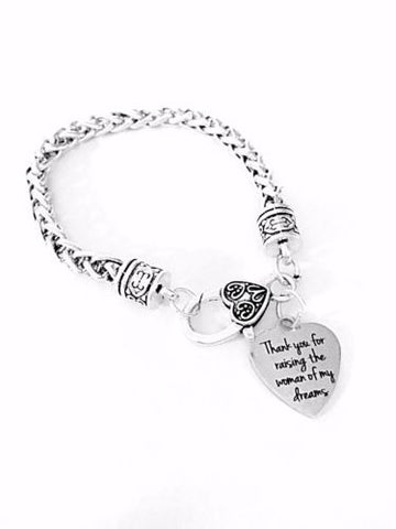 Mother Of The Bride Thank You For Raising The Woman Gift Wedding Charm Bracelet
