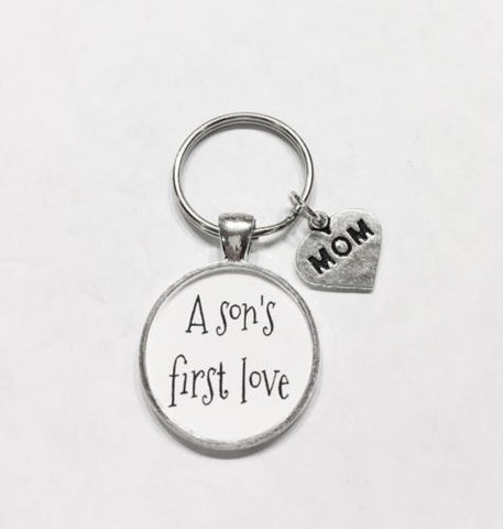 A Son's First Love Mom Gift For Mother's Day Quote Christmas Gift Keychain