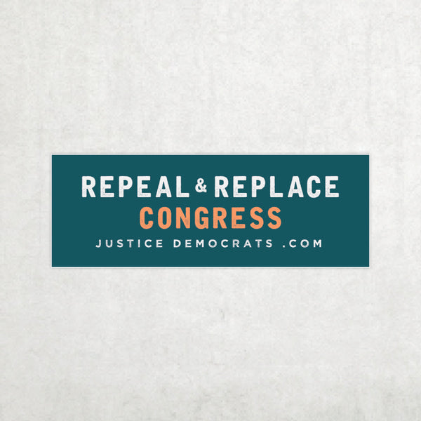 JD Repeal & Replace Congress Bumper Sticker