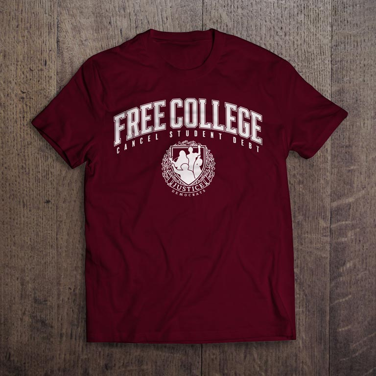 Burgundy Free College T-Shirt