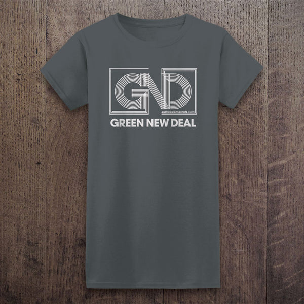 Ladies Green New Deal T-Shirt