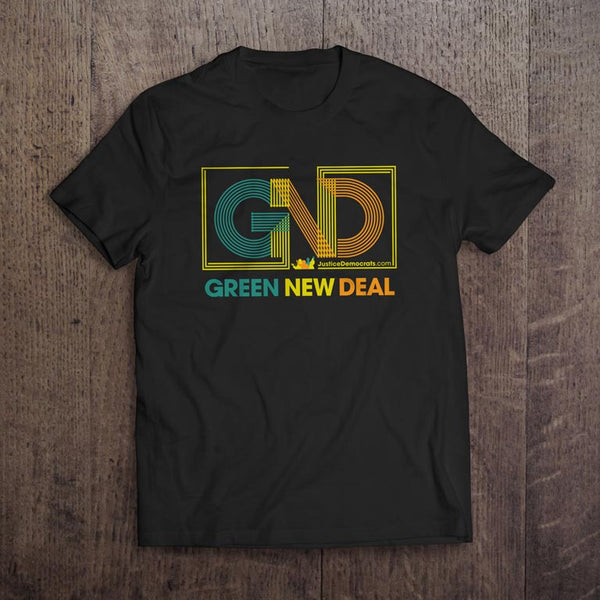 Adult Green New Deal Organic T-Shirt in Black