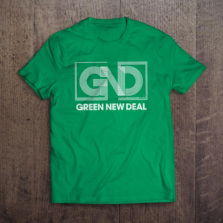 Adult Green New Deal Organic T-Shirt in Green