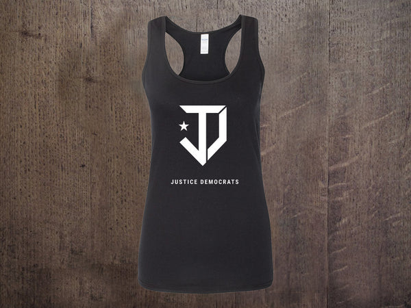 JD Logo Black Ladies Tank