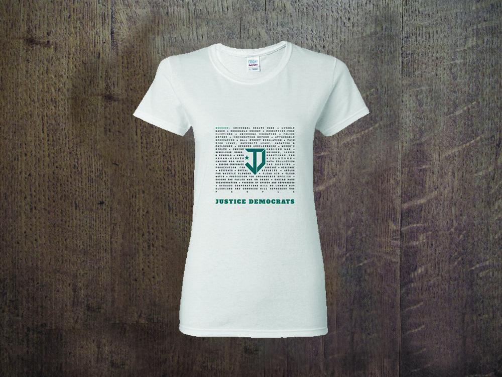 JD Because Ladies T-Shirt White