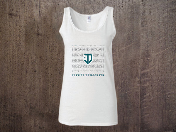 "Because Ladies ""Racer Back"" Tank Top"