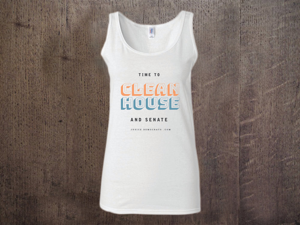 "Time to Clean House and Senate ""Racer Back"" Tank Top"