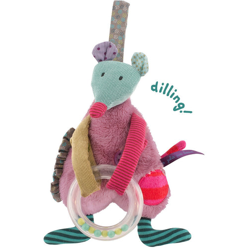 Les jolis pas beaux Hanging Purple Mouse Plush - ALittleRaspberry