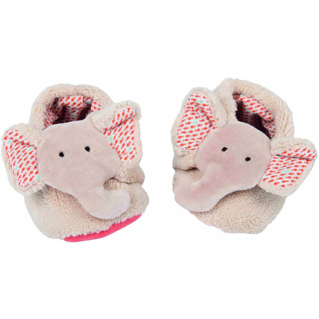 Les Papoum Elephant baby slippers - ALittleRaspberry