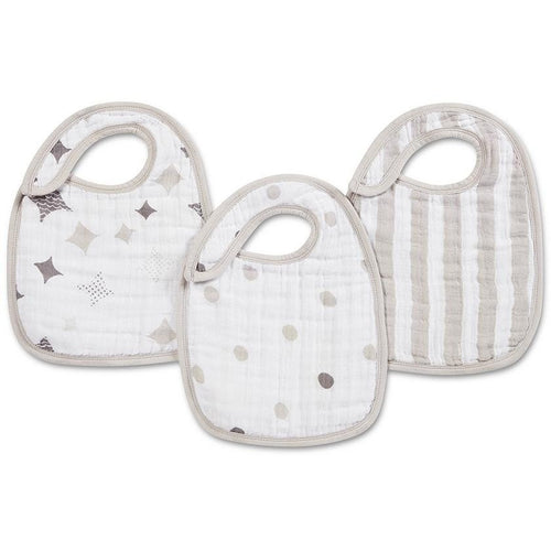 Shine on 3-pack - Classic snap bibs - ALittleRaspberry