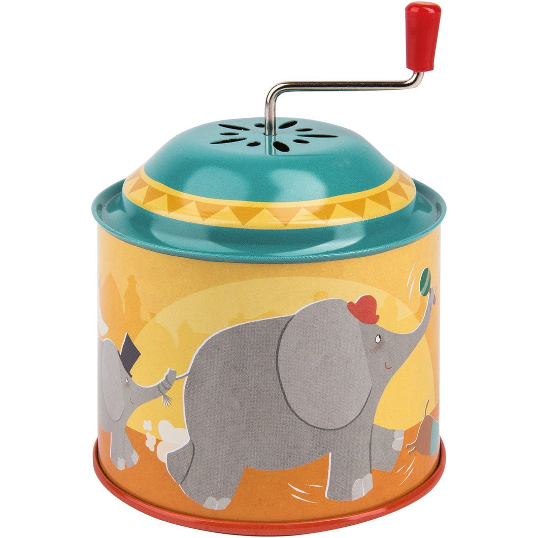 Metal Crank Marching Elephants Music Box - ALittleRaspberry