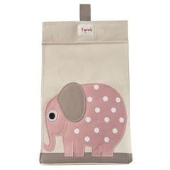 Diaper stacker pink elephant - ALittleRaspberry
