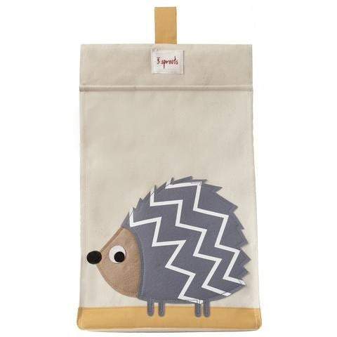 Diaper stacker grey hedgehog - ALittleRaspberry