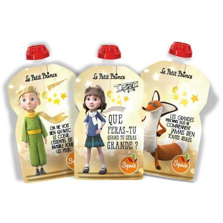 Set of 3 reusable food pouches 130ml - The Little Prince