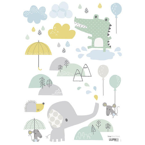 Baby Elephant A3 Sticker