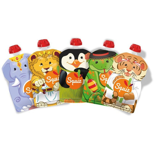 Set of 5 reusable pouches 130ml - Carnival collection - ALittleRaspberry