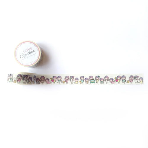 Happy Girl Gang Washi Tape (Version 1 - colored)