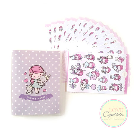 HAPPY STICKERS - Vol. Lilac
