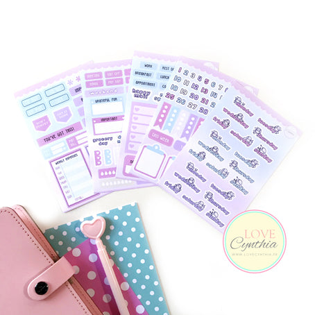 HAPPY STICKERS COORDINATING KIT - 5 SHEETS