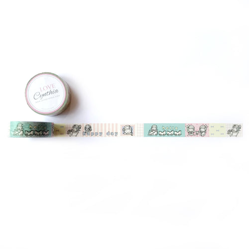Hello Happy Days - Happy Girls Washi Tape