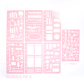 Personal Size Planner Stencils - BUNDLE OF 6