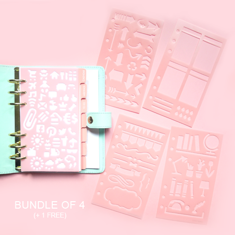 Personal Size Planner Stencils - BUNDLE OF 4