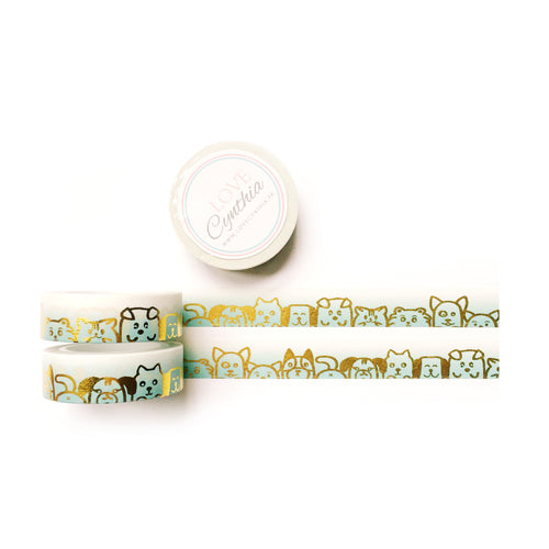 Woof Gold Foil Washi Tape