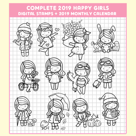 COMPLETE 2019 HAPPY GIRLS